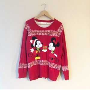 Disney Mickey and Minnie Christmas sweater